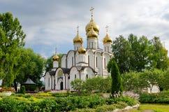 尼古拉斯大教堂在Svyato-Nikolsky女修道院, Pereslavl-Zalessky,俄罗斯 免版税图库摄影
