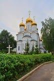 尼古拉斯的后部Wonderworker&大教堂在Nikolsky Pereslavsky女修道院在Pereslavl-Zalessky,俄罗斯 库存照片