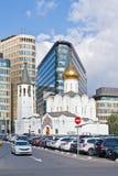 尼古拉斯老信徒教会 城市日克里姆林宫室外的莫斯科 免版税库存图片