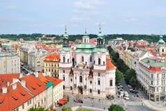 尼古拉斯老布拉格方形st城镇 免版税库存照片