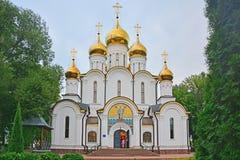 尼古拉斯Wonderworker& x27; s大教堂在Nikolsky Pereslavsky女修道院在Pereslavl-Zalessky,俄罗斯 库存照片