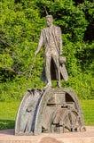 尼古拉・特斯拉纪念碑 库存图片