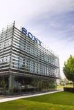索尼在总部修造的公司商标 免版税图库摄影