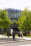 索尼在总部修造的公司商标 图库摄影
