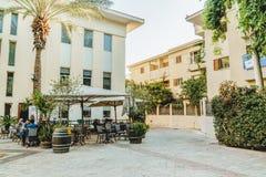 尼夫Tzedek大厦在特拉唯夫贾法角 旅游业的老地方 免版税库存图片