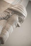"""尼姆鲁德human†""""朝向的飞过的狮子 免版税库存图片"""