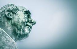 尼尔斯・玻尔雕塑 免版税库存图片