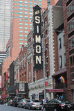 尼尔・赛门剧院,纽约 免版税库存图片