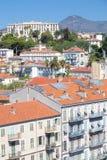 尼斯城市鸟瞰图  库存照片