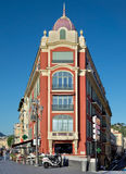 尼斯城市-大厦建筑学在地方Massena的 免版税库存照片