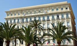尼斯城市-沿散步des Anglais的建筑学 库存图片