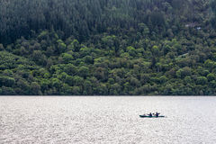 尼斯湖海岸线在清早,苏格兰 免版税库存图片