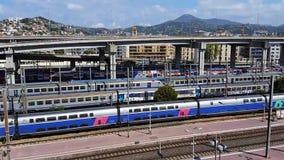 尼斯火车站鸟瞰图  影视素材