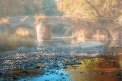 尼斯特尔桥梁, Westerwald,莱茵河流域巴列丁奈特,德国 库存照片