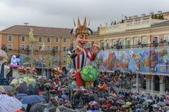 尼斯狂欢节在法国海滨 免版税库存图片