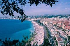 尼斯老城镇,法国 免版税库存图片