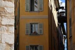 尼斯老的镇。 免版税库存照片