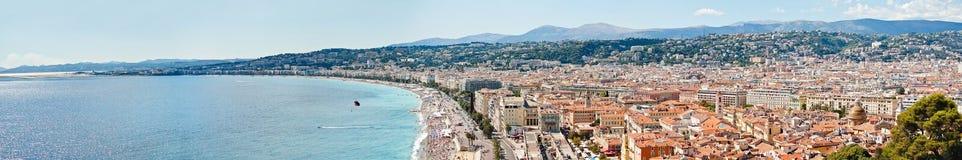 尼斯,法国全景 免版税库存图片
