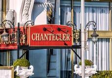 尼斯Chantecler Negresco的旅馆 免版税库存图片
