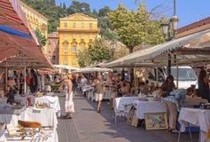 尼斯Cours Saleya的市场- 免版税库存图片