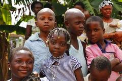 尼日利亚男孩和女孩 免版税库存图片