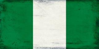 尼日利亚背景葡萄酒国旗  免版税库存照片