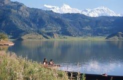 尼泊尔。 山景。 图库摄影