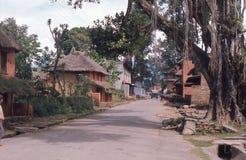 尼泊尔。 Ouiet街道。 库存照片