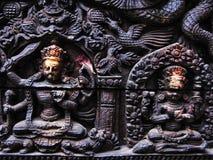 尼泊尔上帝和女神 免版税库存图片
