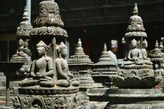 尼泊尔印度教菩萨石头寺庙 免版税图库摄影