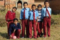 尼泊尔哄骗足球队员 免版税库存照片