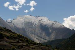尼泊尔喜马拉雅山山 免版税库存照片