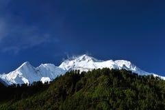 尼泊尔喜马拉雅山山 库存图片