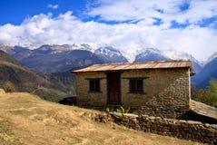 尼泊尔喜马拉雅山 免版税图库摄影