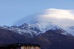 尼泊尔喜马拉雅山 免版税库存照片