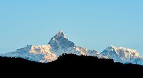 尼泊尔喜马拉雅山 库存图片