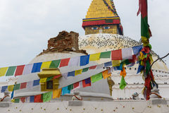 尼泊尔地震在加德满都 库存图片
