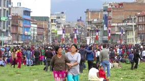 尼泊尔地震在加德满都 影视素材