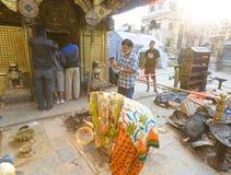尼泊尔地震 免版税库存照片