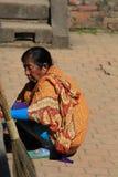 尼泊尔夫人 免版税图库摄影