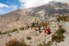 尼泊尔妇女 免版税库存照片
