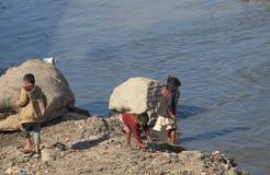 尼泊尔孩子加德满都尼泊尔 免版税图库摄影