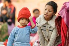 尼泊尔小男孩 免版税库存照片