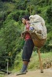 尼泊尔搬运工 库存照片