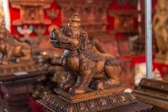 尼泊尔木雕 库存图片