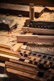 尼泊尔木头雕刻 库存照片