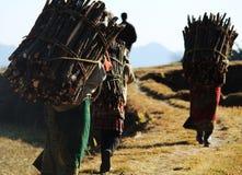 尼泊尔村民妇女 免版税图库摄影