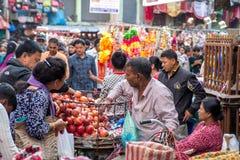 尼泊尔果子卖主 免版税图库摄影