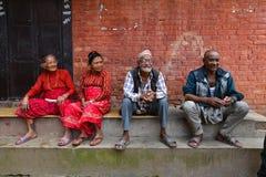 从尼泊尔的人们 库存图片
