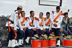 尼泊尔的军事乐队 库存图片